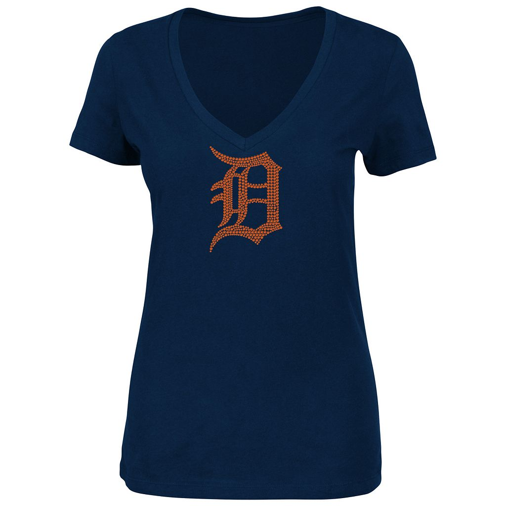 Women's Majestic Detroit Tigers Dream of Diamonds Tee