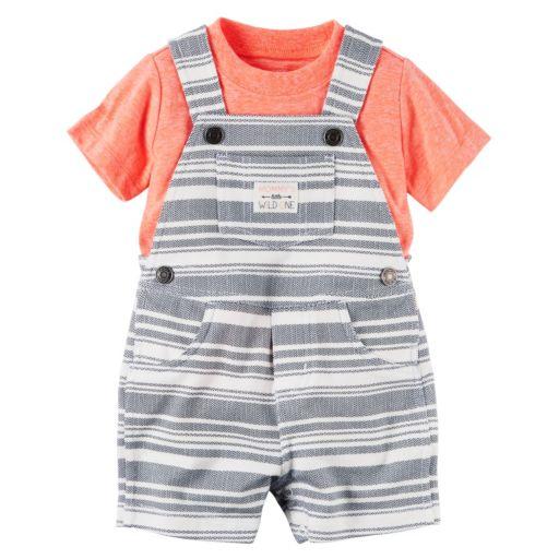 Baby Boy Carter's Tee & Striped Shortalls Set