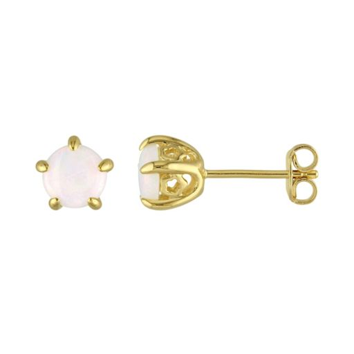 Stella Grace Laura Ashley Sterling Silver Opal Stud Earrings