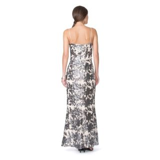 Women's Chaps Floral Chiffon Evening Gown