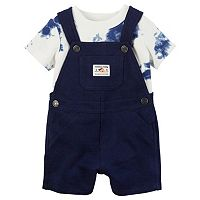 Baby Boy Carter's Tie-Dye Tee & Solid Shortalls Set