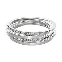 Jennifer Lopez Simulated Crystal Bangle Bracelet Set