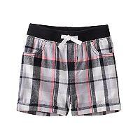 Baby Girl Jumping Beans® Plaid Cuffed Shorts