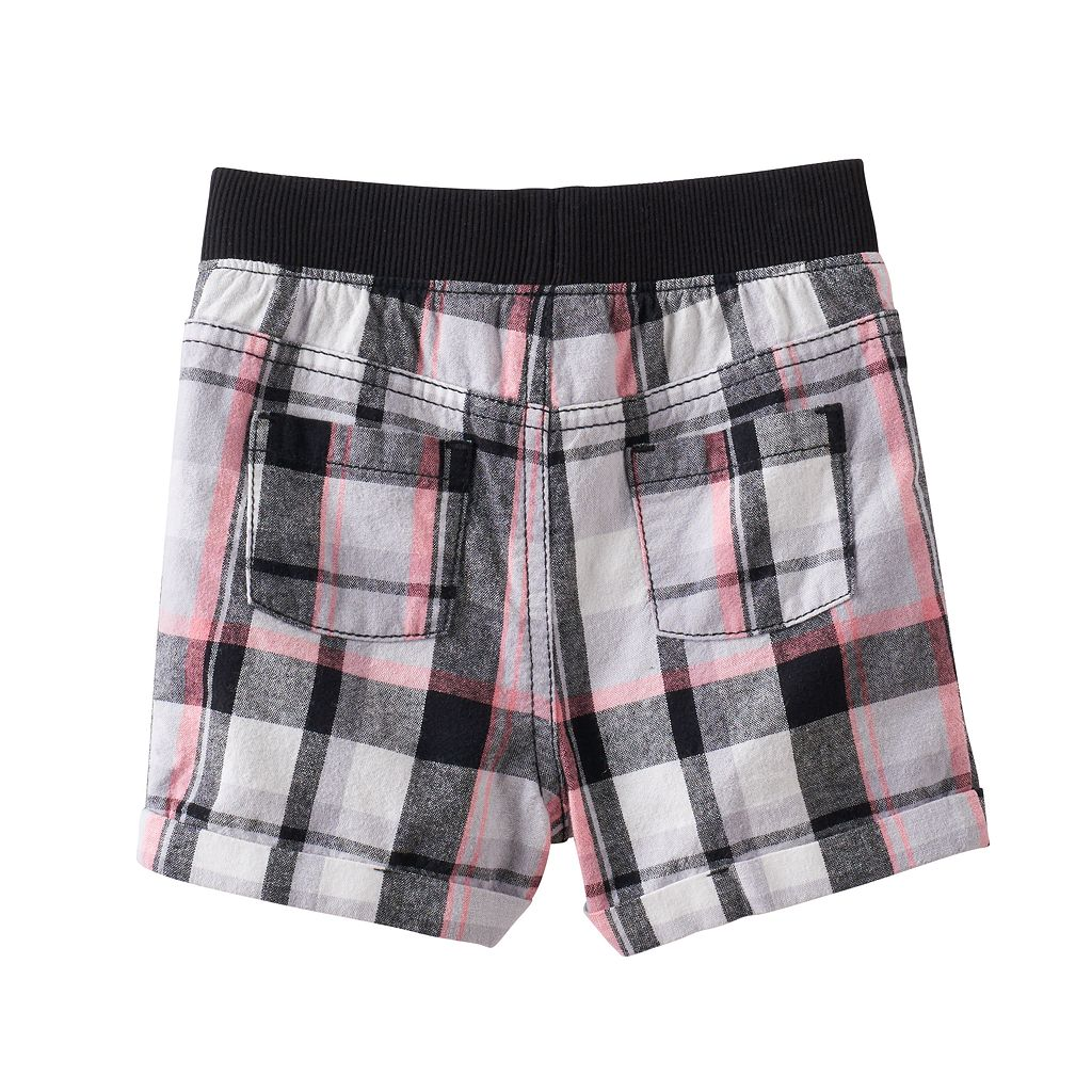 Baby Girl Jumping Beans® Plaid Cuffed Shorts