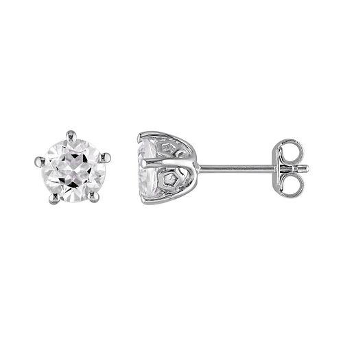 Stella Grace Laura Ashley Sterling Silver White Topaz Stud Earrings
