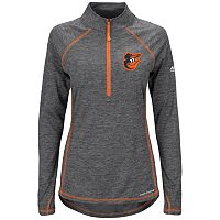 Women's Majestic Baltimore Orioles Don't Stop Trying Pullover