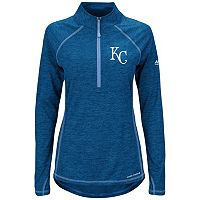 Women's Majestic Kansas City Royals Don't Stop Trying Pullover