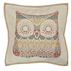 Spencer Home Decor Tribal Owl Throw Pillow