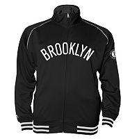 Big & Tall Majestic Brooklyn Nets Fleece Track Jacket