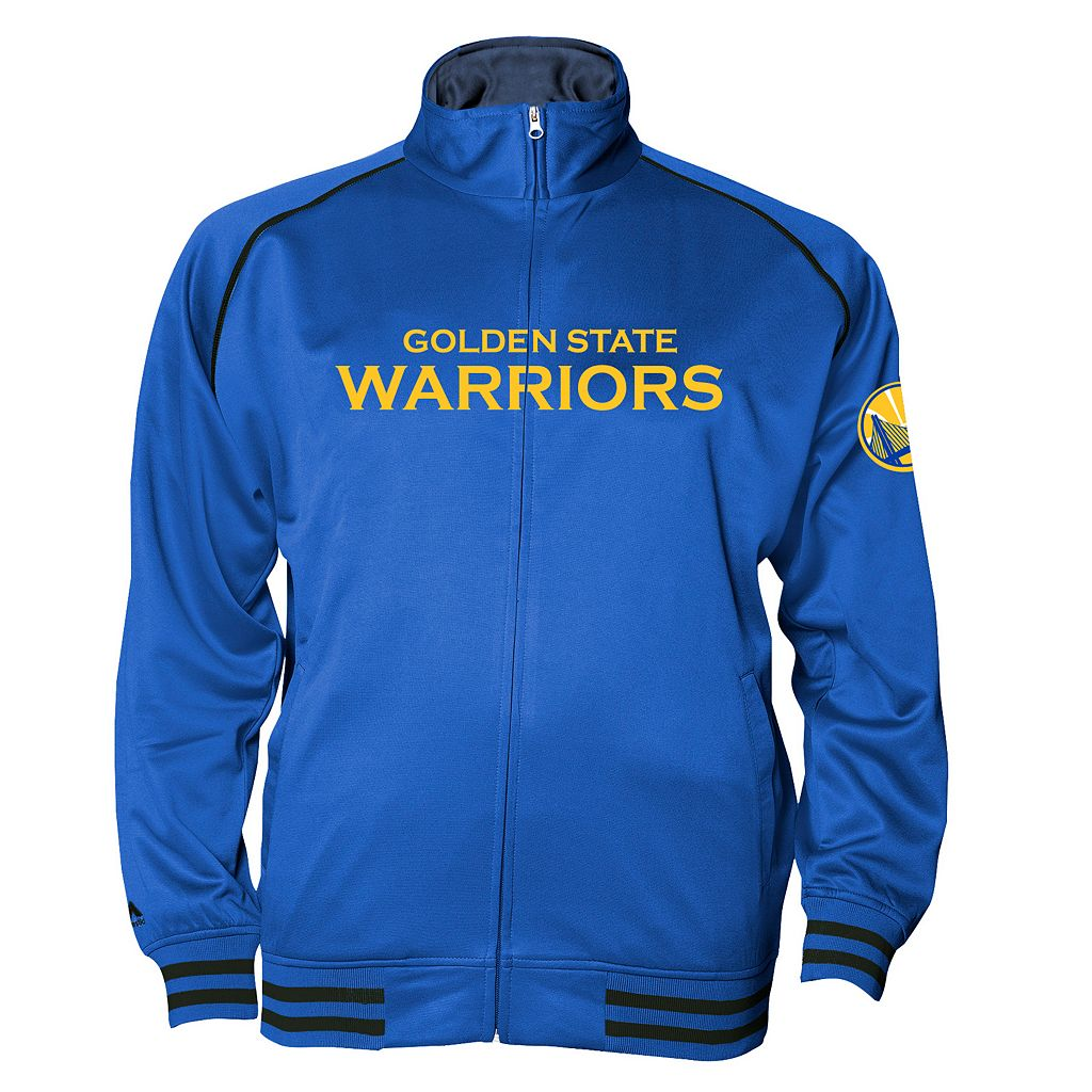 Big & Tall Majestic Golden State Warriors Fleece Track Jacket