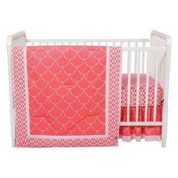 Trend Lab Shell 3-pc. Crib Bedding Set