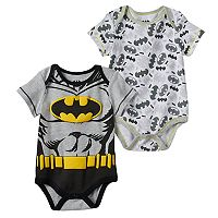 Baby Boy DC Comics Batman 2-pk. Graphic & Print Bodysuits