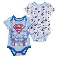 Baby Boy DC Comics Superman 2-pk. Graphic & Print Bodysuits