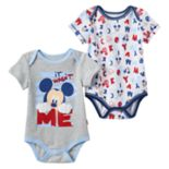 "Disney's Mickey Mouse Baby Boy 2-pk. ""It Wasn't Me"" Graphic & Print Bodysuits"