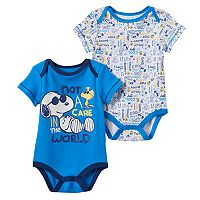 Baby Boy Peanuts Snoopy 2-pk. Graphic & Print Bodysuits
