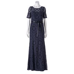 Women's 1 by 8 Scroll Lace Evening Gown