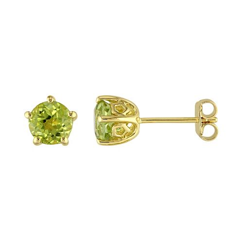 Laura Ashley Lifestyles Sterling Silver Peridot Stud Earrings