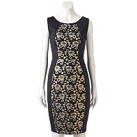 Women's Jax Floral Panel Sheath Dress