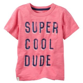 "Baby Boy Carter's Short Sleeve ""Super Cool Dude"" Pocket Tee"