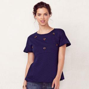 Women's LC Lauren Conrad Embellished Crewneck Sweater
