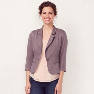 Women's LC Lauren Conrad Bow-Back Crop Blazer