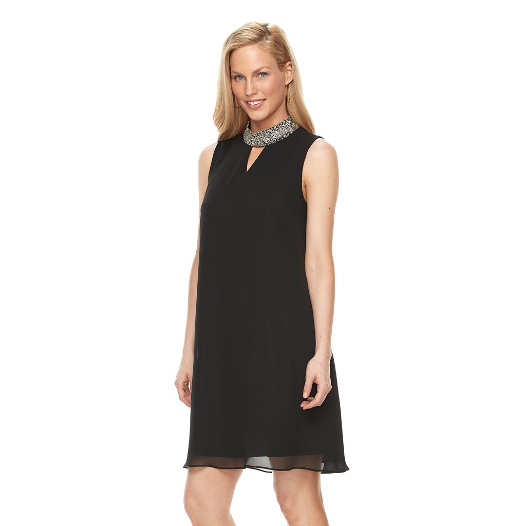 Women's Perceptions Beaded Shift Dress