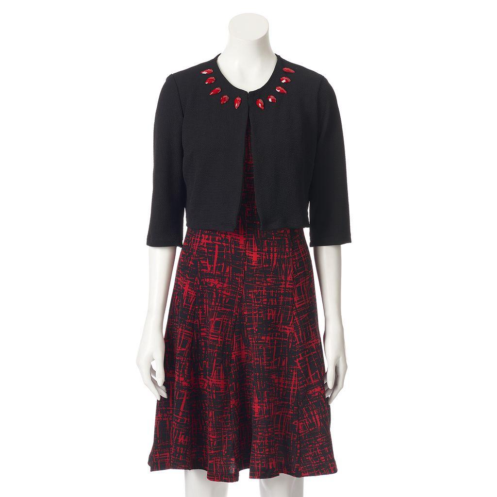Women's Perceptions Abstract Jacket & Dress Set