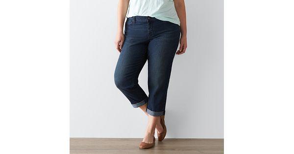 Plus Size Sonoma Goods For Life Boyfriend Jeans