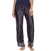 Women's Apt. 9® Pajamas: Night Skies Satin Pajama Pants