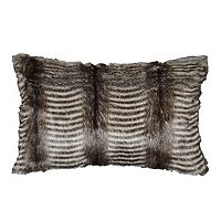 Spencer Home Decor Badger Faux Fur Oblong Throw Pillow