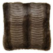 Spencer Home Decor Badger Faux Fur Throw Pillow