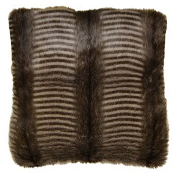 Spencer Home Decor Badger Faux Fur Throw Pillow