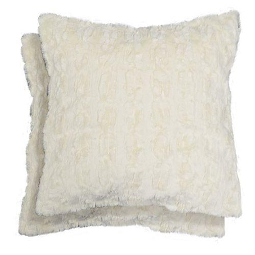 Spencer Home Decor Denham Faux Fur 2-piece Throw Pillow Set