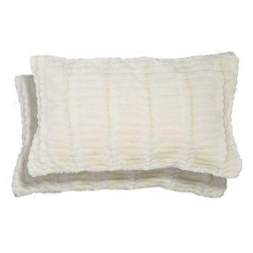 Spencer Home Decor Ellie Faux Fur 2-piece Oblong Throw Pillow Set