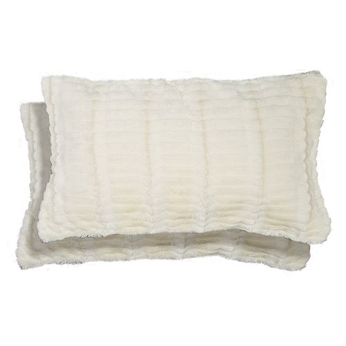 Spencer Home Decor Ellie Faux Fur 2-piece Oblong Throw Pillow Set