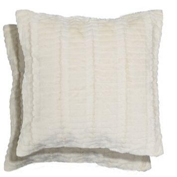 Spencer Home Decor Ellie Faux Fur 2-piece Throw Pillow Set
