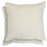 Spencer Home Decor Leslie Faux Fur 2-piece Throw Pillow Set