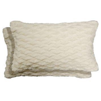 Spencer Home Decor Nico Faux Fur 2-piece Oblong Throw Pillow Set