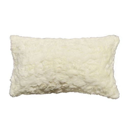 Spencer Home Decor Ozzie Faux Fur Oblong Throw Pillow