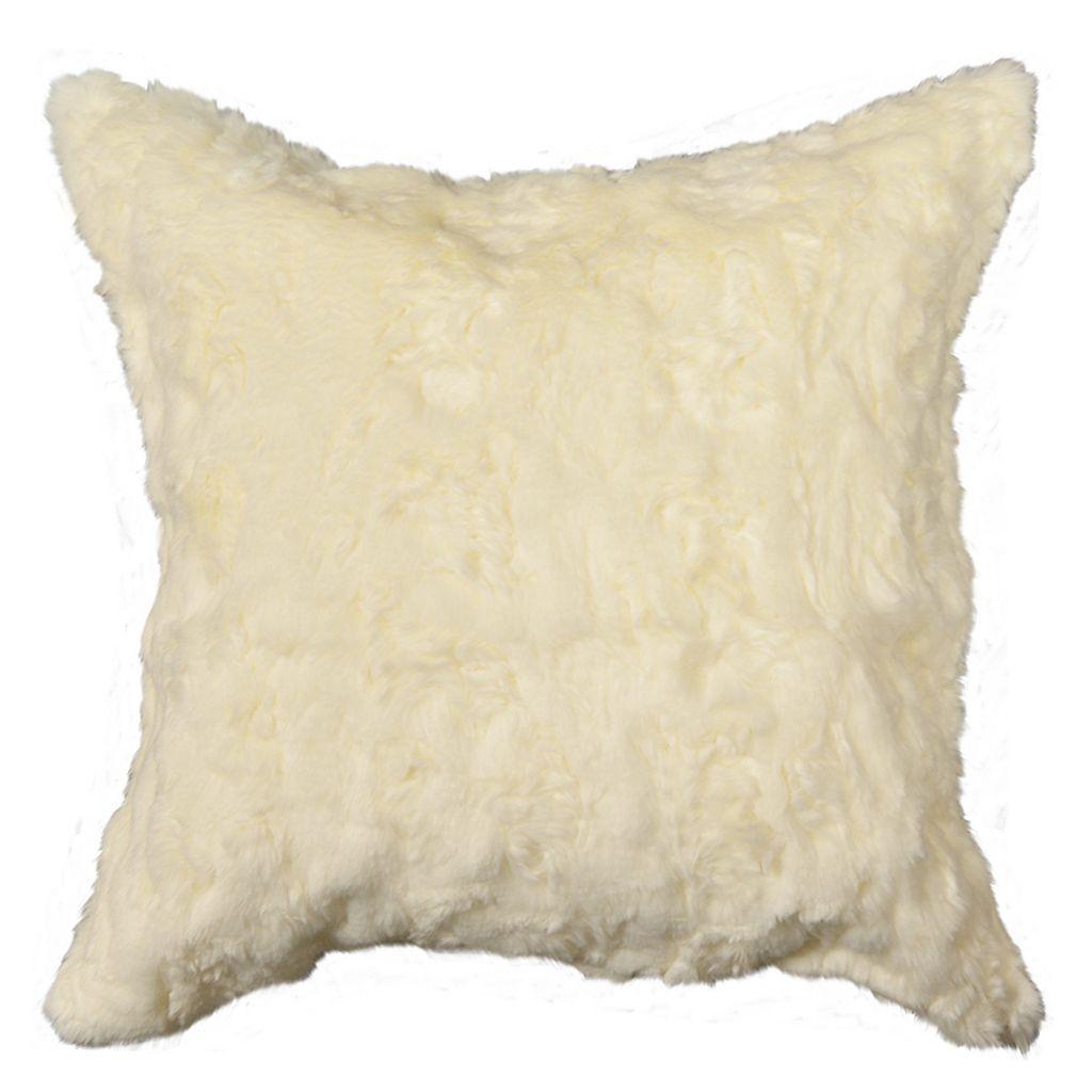 Spencer Home Decor Ozzie Faux Fur Throw Pillow