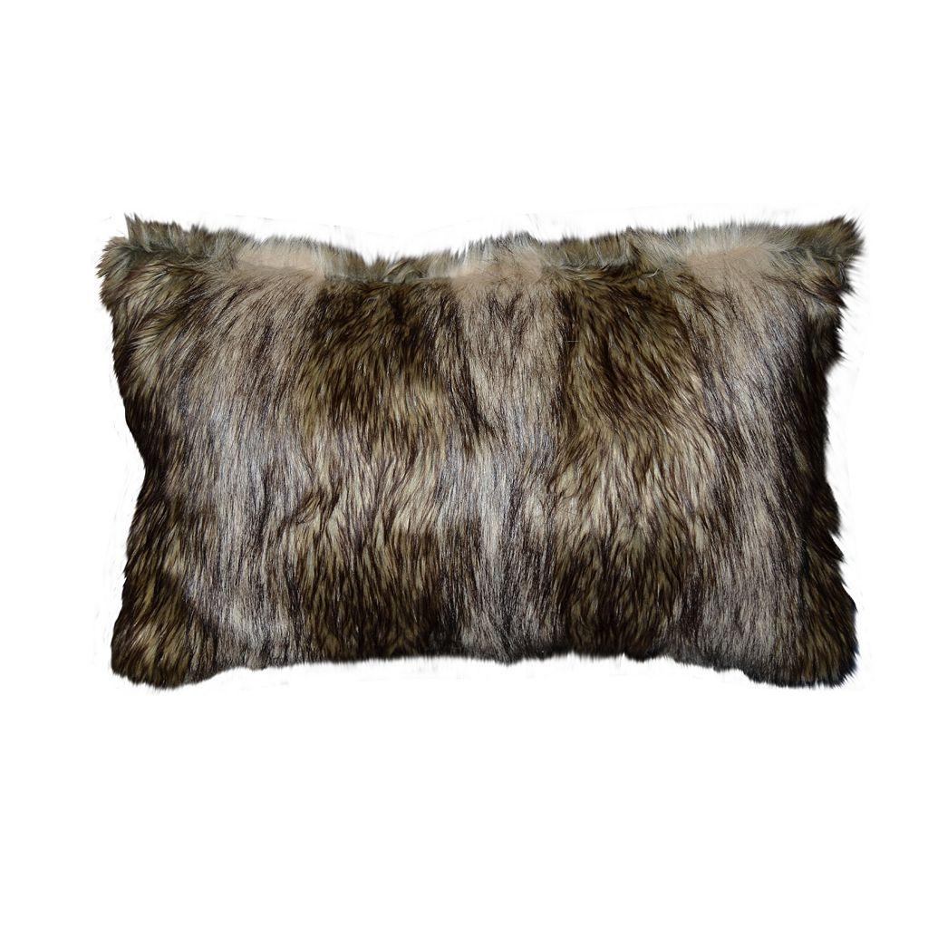 Spencer Home Decor Richmond Faux Fur Oblong Throw Pillow