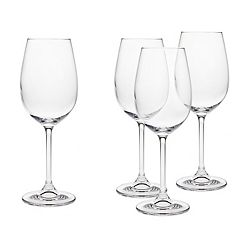Godinger Meridian 4 pc Crystal White Wine Glass Set
