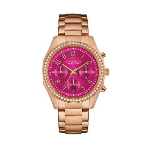 Caravelle New York by Bulova Women's Crystal Stainless Steel Chronograph Watch - 44L223