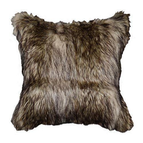Spencer Home Decor Richmond Faux Fur Throw Pillow