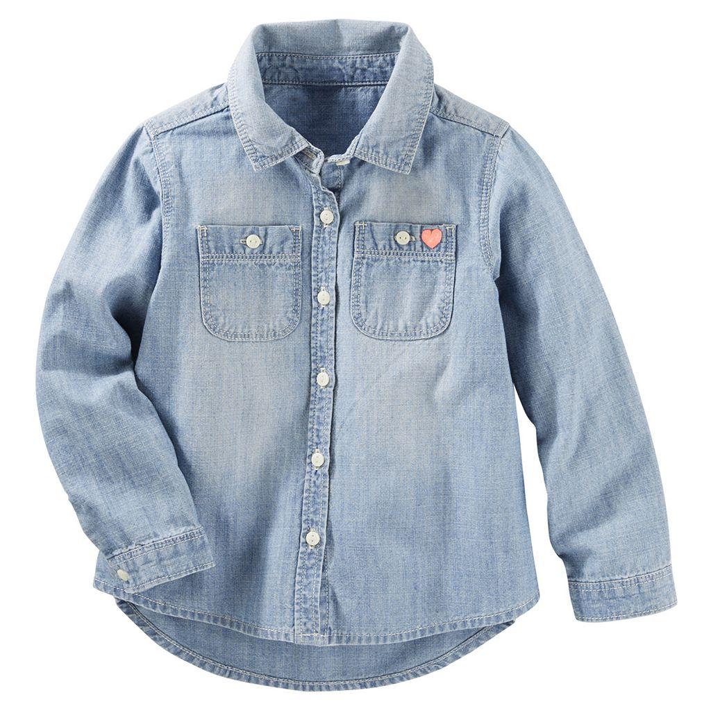 Girls 4-8 OshKosh B'gosh® Denim Button-Front Shirt