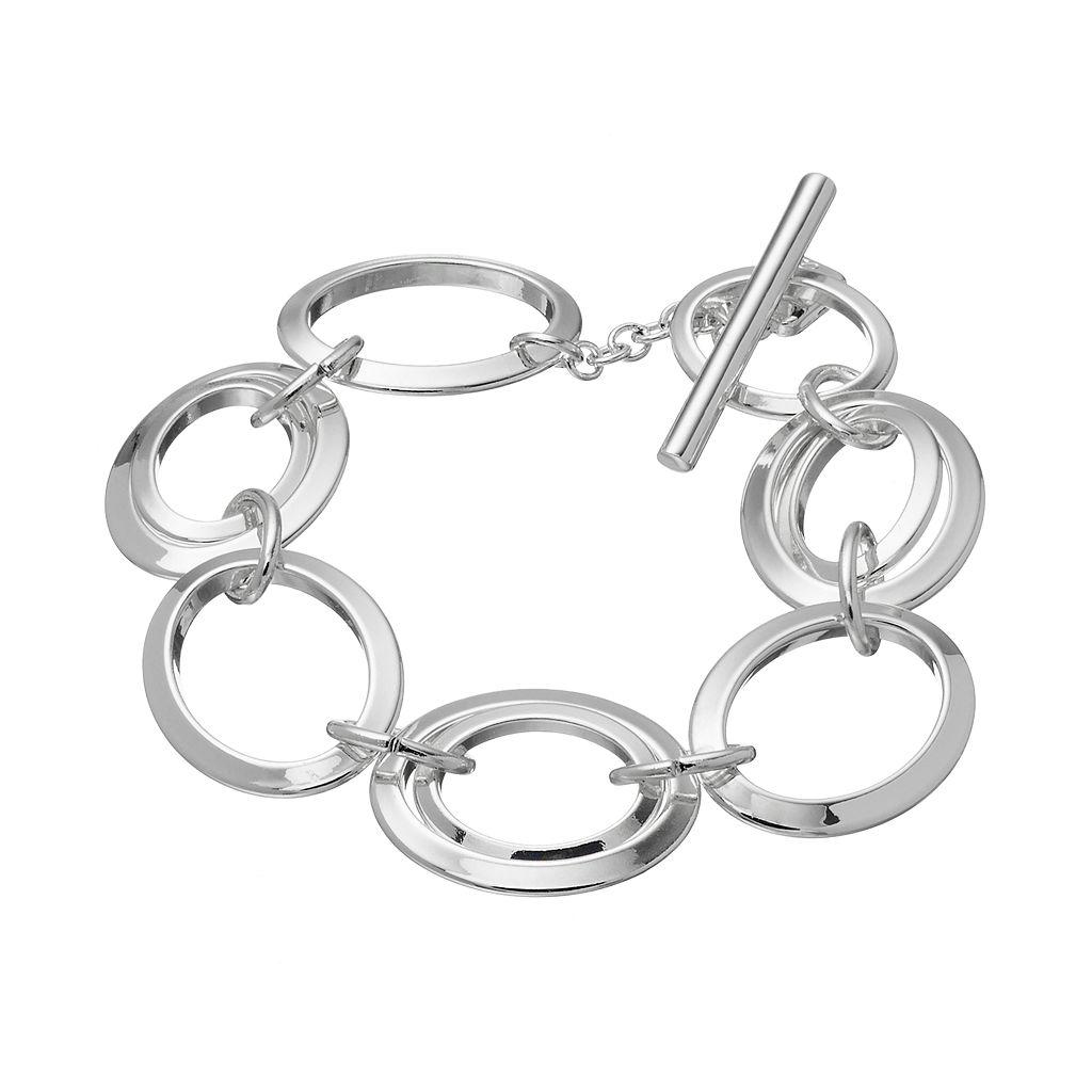 Chaps Circle Link Toggle Bracelet