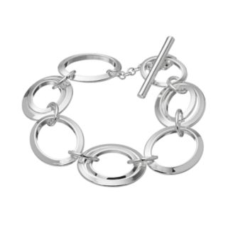 Chaps Circle Link Toggle Bracelet