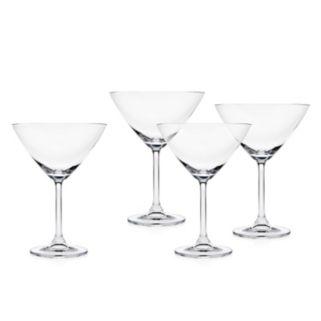 Godinger Meridian 4-pc. Crystal Martini Glass Set