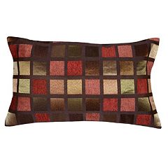 Spencer Home Decor Windowpane Geometric Oblong Throw Pillow