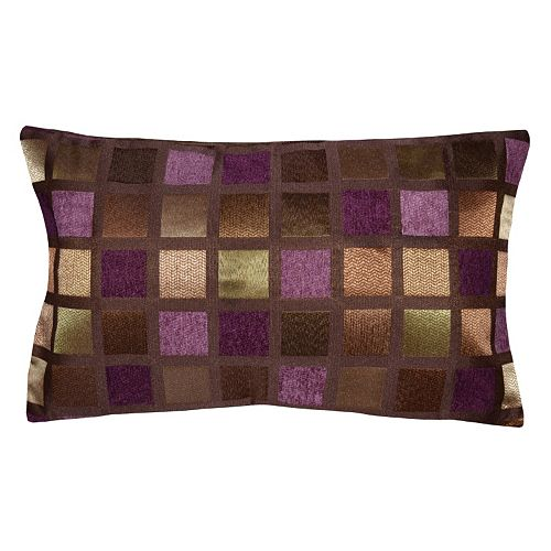 Spencer Home Decor Windowpane Geometric Oblong Throw Pillow